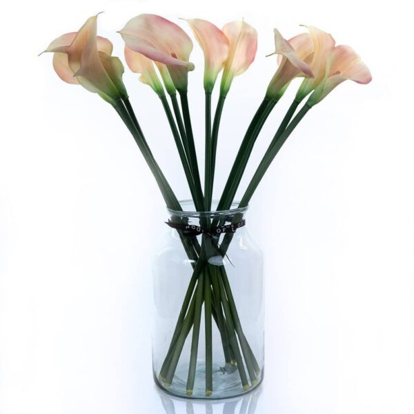 Artificial Flower Pink Calla Lily Large Bouquet
