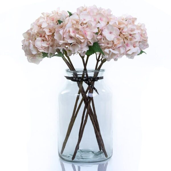 Artificial Flower Pink Hydrangea Large Bouquet in Vase