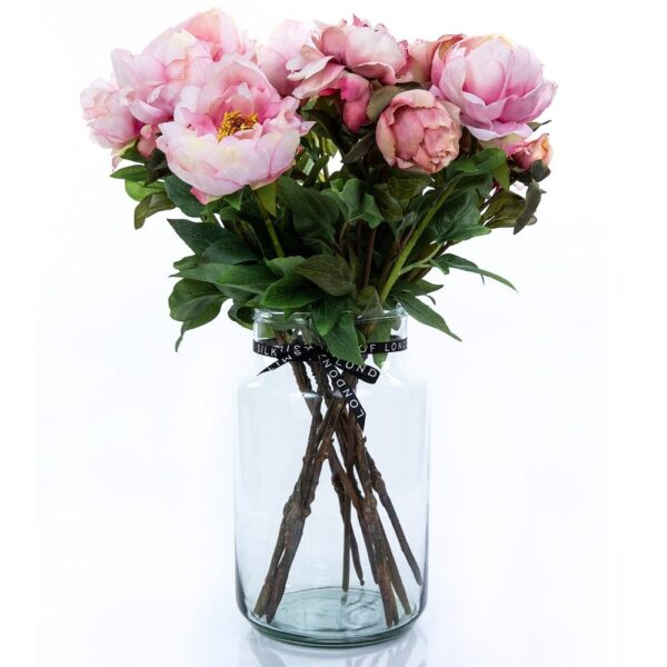 Artificial Flower Pink Peony Bouquet in a Vase