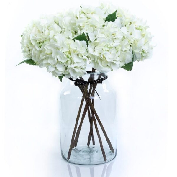 Artificial Flower White Hydrangea Large Bouquet in Vase
