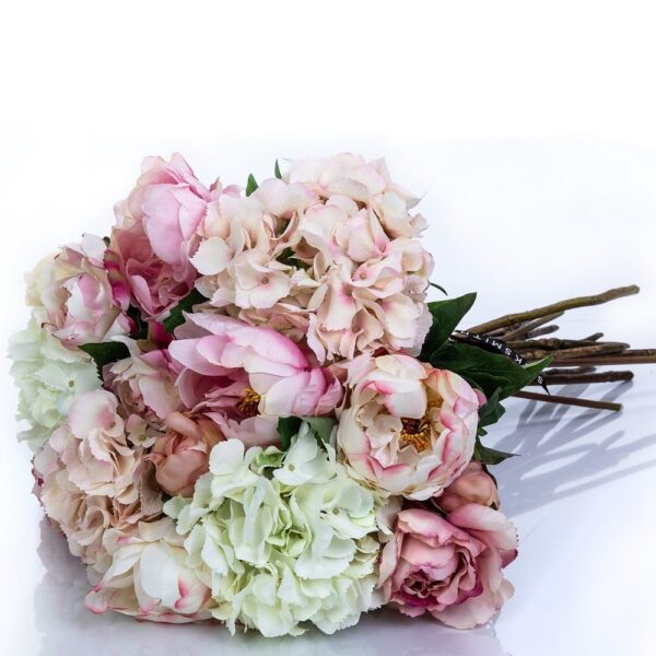 Artificial Flowers Blush Bombe Hand Tied Bouquet